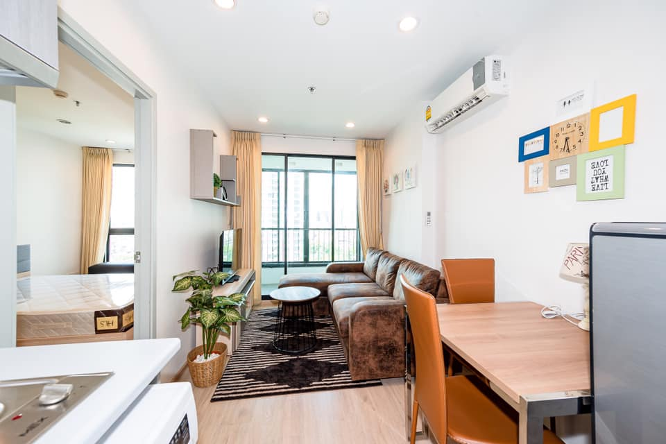 For SaleCondoThaphra, Wutthakat : 1 bedroom for sale, sunny morning, very beautiful, ready to move in, Ideo Sathorn Tha Phra [WC1165]